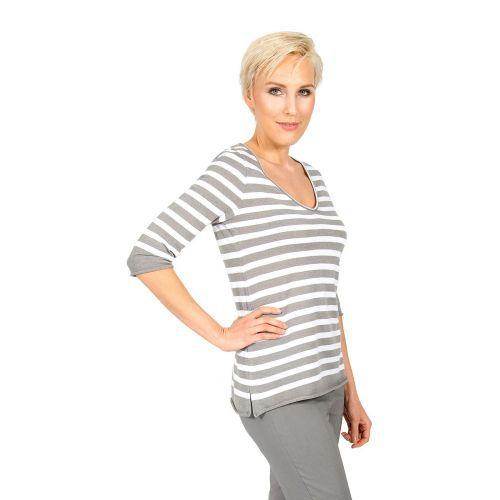Abbildung: Ringel-Pullover V-Neck ultra-light